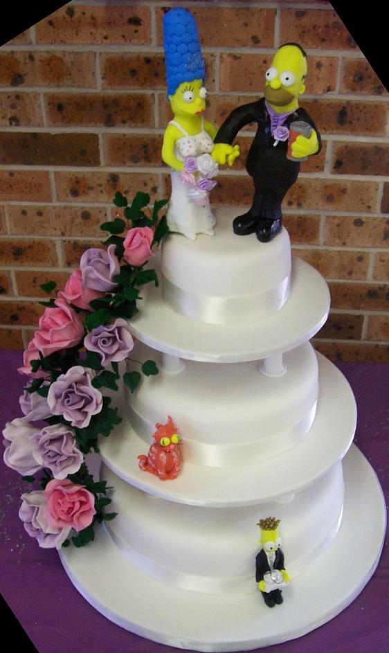 Simpsons Wedding Cake