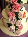 Wedding Cake Sugar Rose Spray