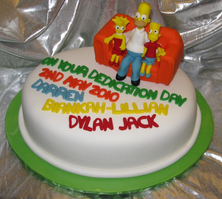 Simpson's Dedication Cake 001 by elyobkram