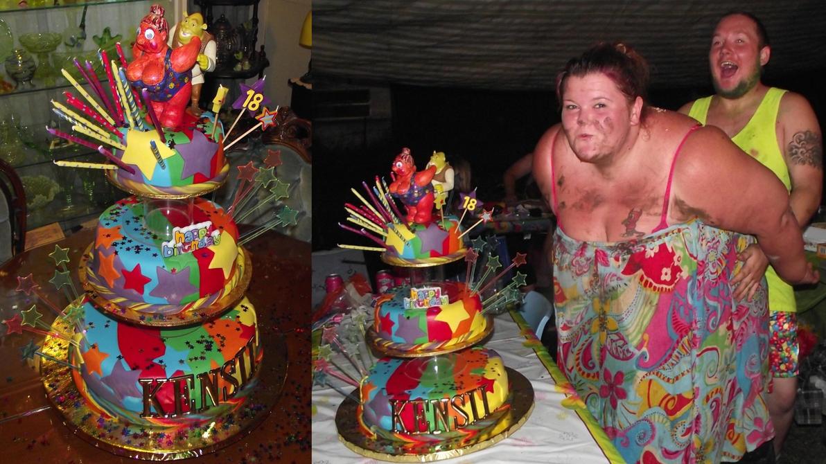 Kensiis Crazy 18th Cake By Elyobkram On Deviantart