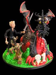 Dragon Mud Cake + Friends by elyobkram