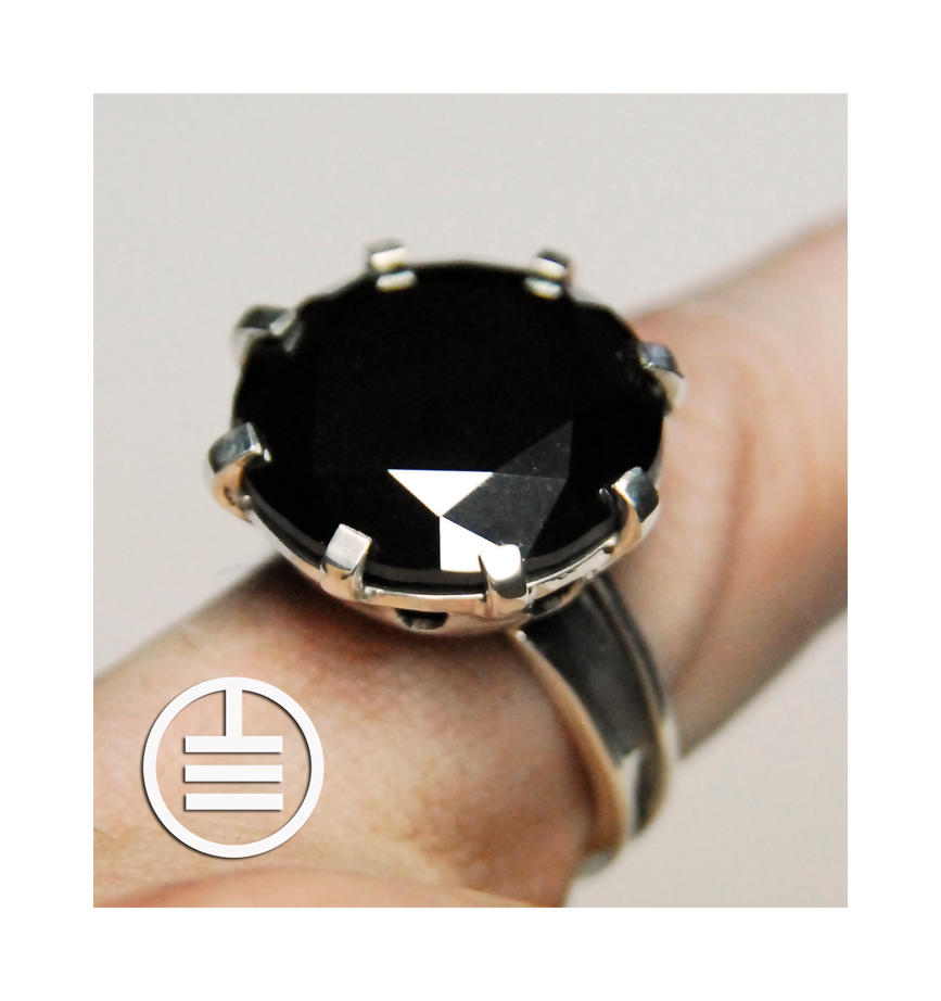 Ct Black Diamond Solitaire Ring