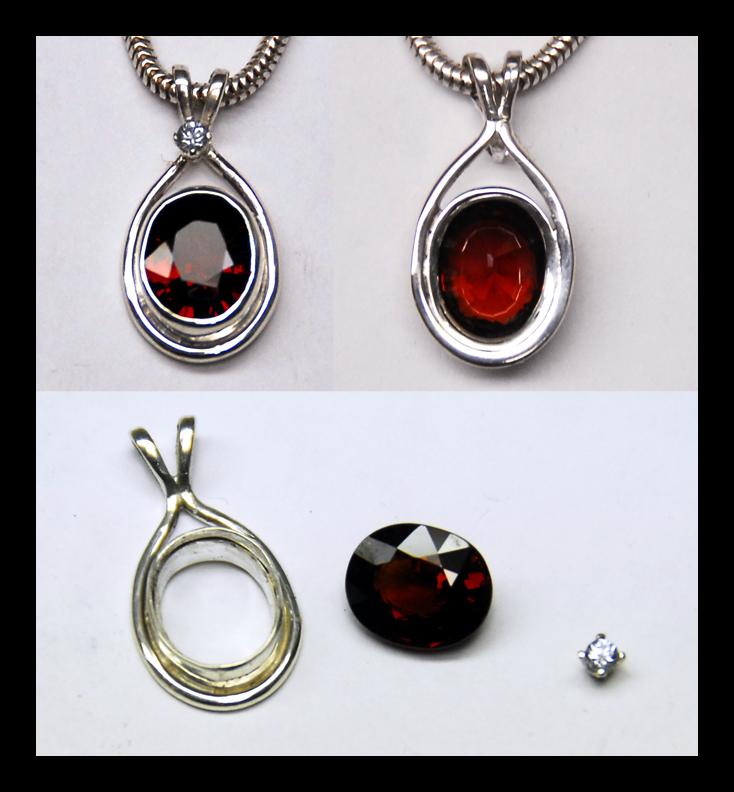 Garnet Sapphire Pendant by manwithashadow
