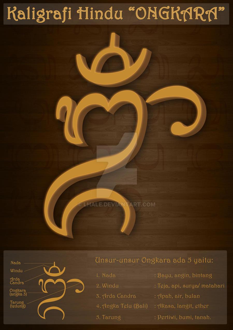 Kaligrafi Hindu Ongkara by Lhale
