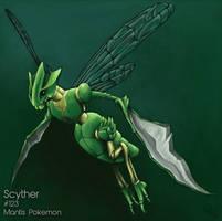 Fav Bug Type: Scyther by MindlessKaos