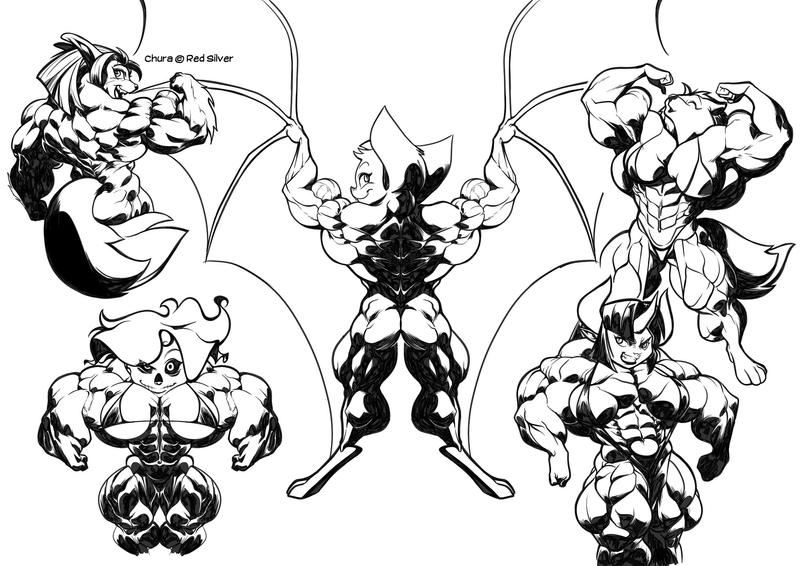 Line Drawing Monster : Monsters muscle mash by gettar on deviantart