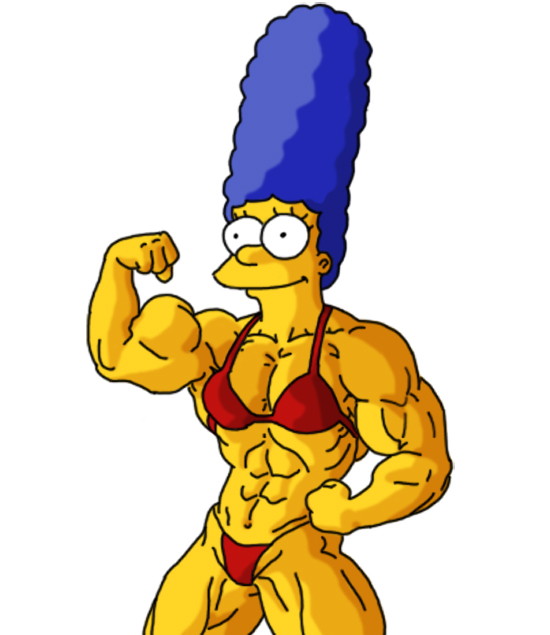 Muscular Marge by Gettar82