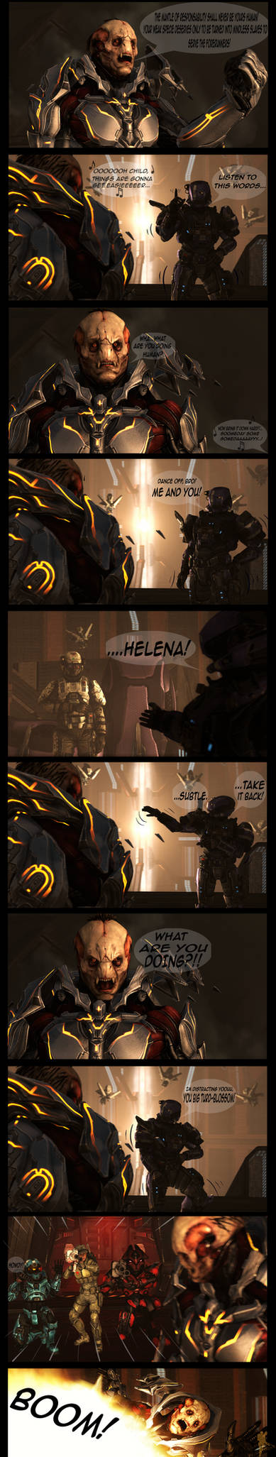 Halo Comic: A new way to take down the Didact!