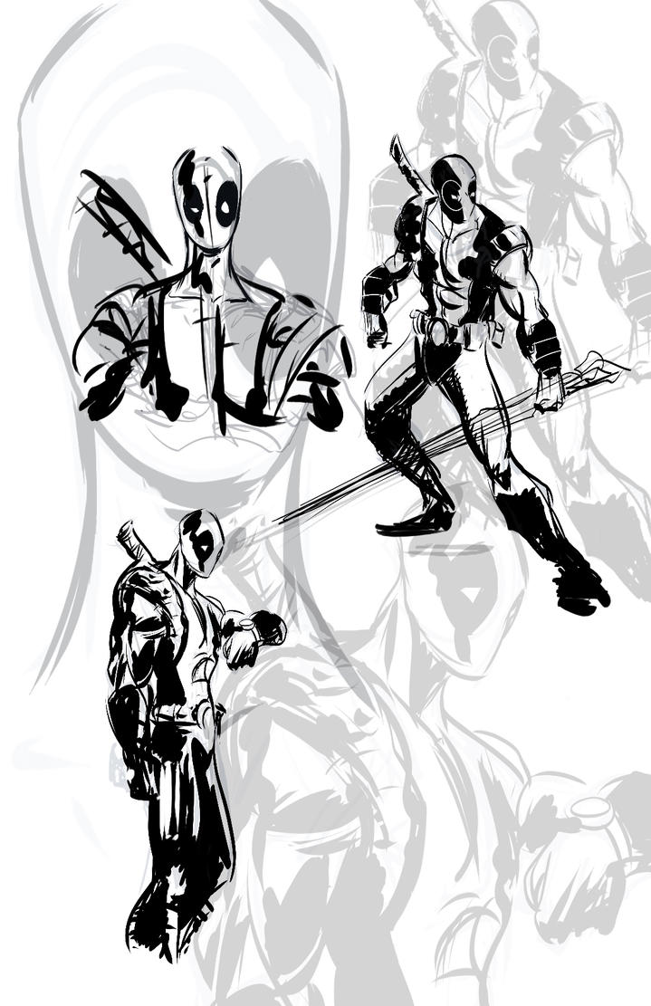 DEADPOOL SKETCHES by TOBY71