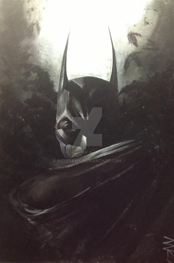 Dark Knight ReTouched - Acrylic on 24x36 canvas