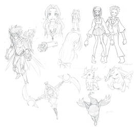 2013 Sketchdump 3 by L-Rossfellow