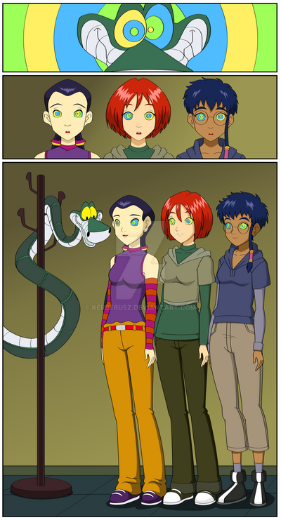 W.I.T.C.H.-Girls meet Kaa the snake by Kerberusz