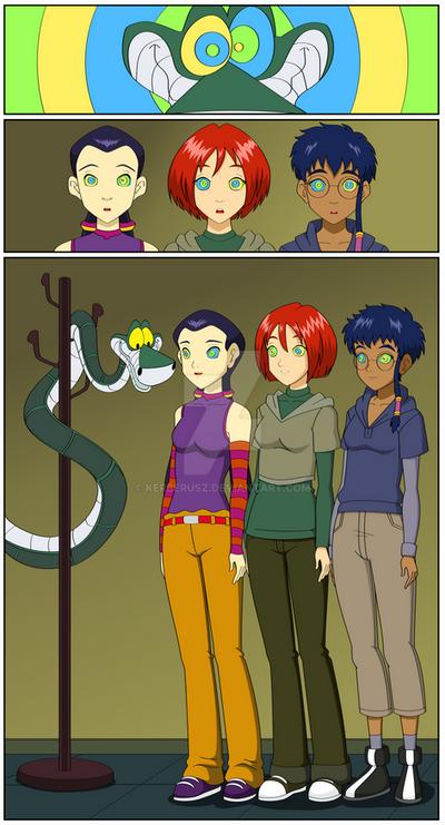 W.I.T.C.H.-Girls meet Kaa the snake by Kerberusz