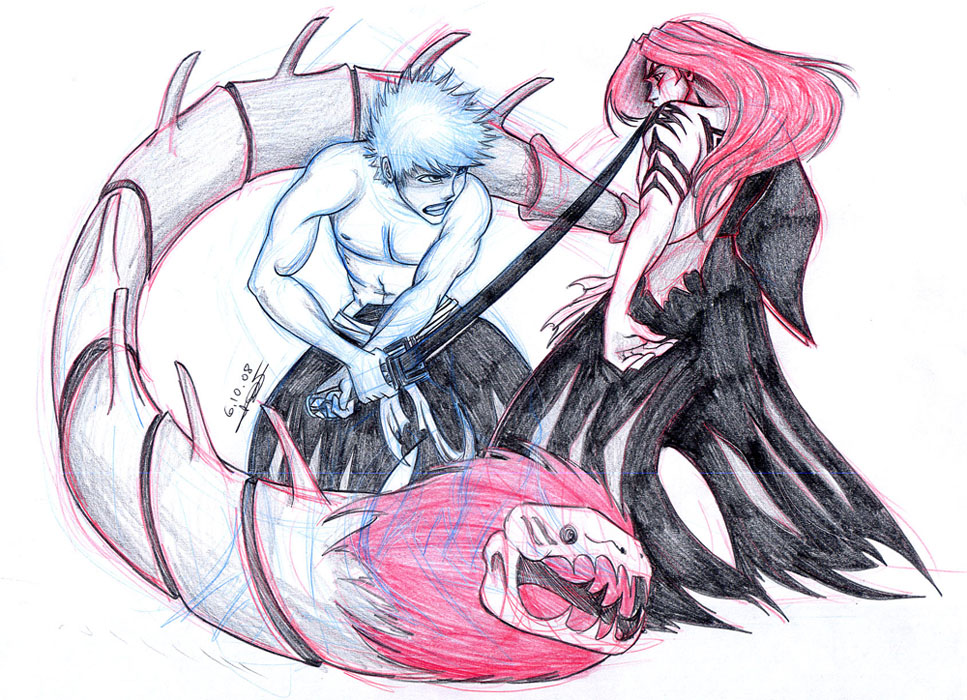 Ichigo Vs Renji 02 + 10.08 by LPDisney