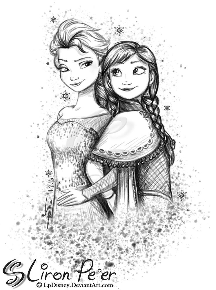 Anna and Elsa 02 + 02/16 by LPDisney