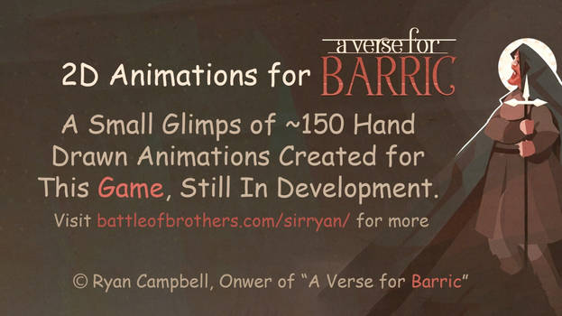 A Verse for Barric - 2D Animations for a Game
