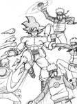 Son Goku vs  Monkey D. Luffy and Naruto Uzumaki