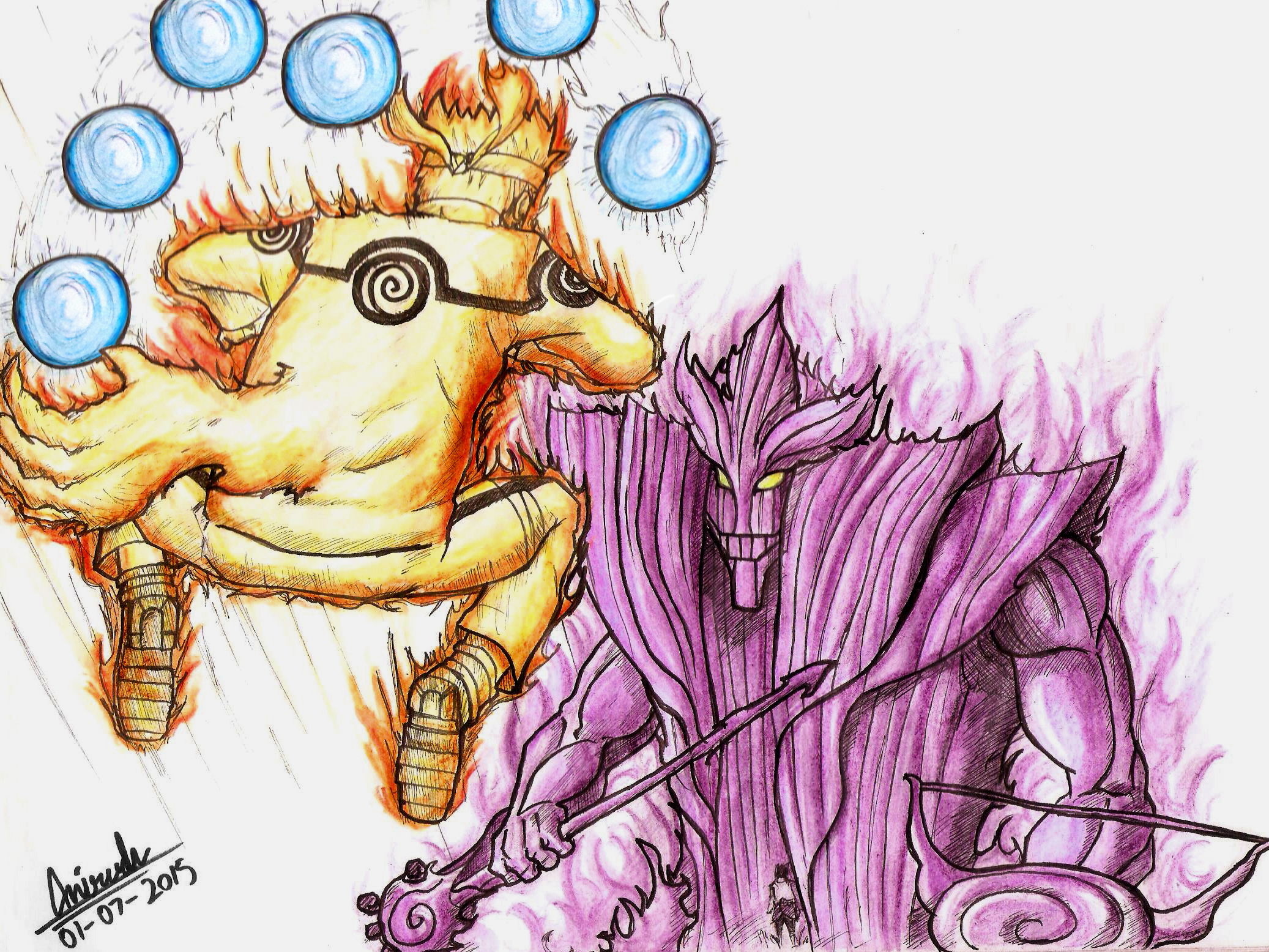 naruto chakra mode vs sasuke susanoo by toonager on deviantart