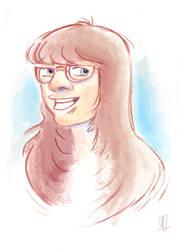 Woman Sketch at Cartoon Movie
