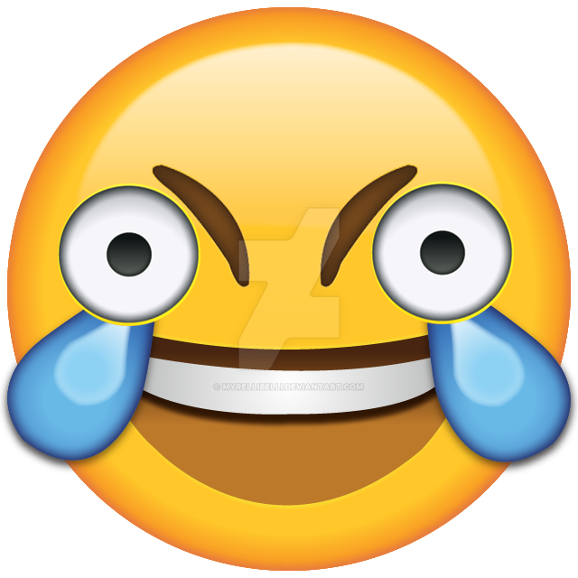 Open Eye Laughing Crying Emoji HD By Myrellibelli