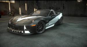 chevy corvette. cross NFS carbon. the run