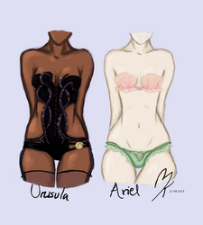 Ursula vs. Ariel - Lingerie