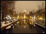 A winter night in Amsterdam
