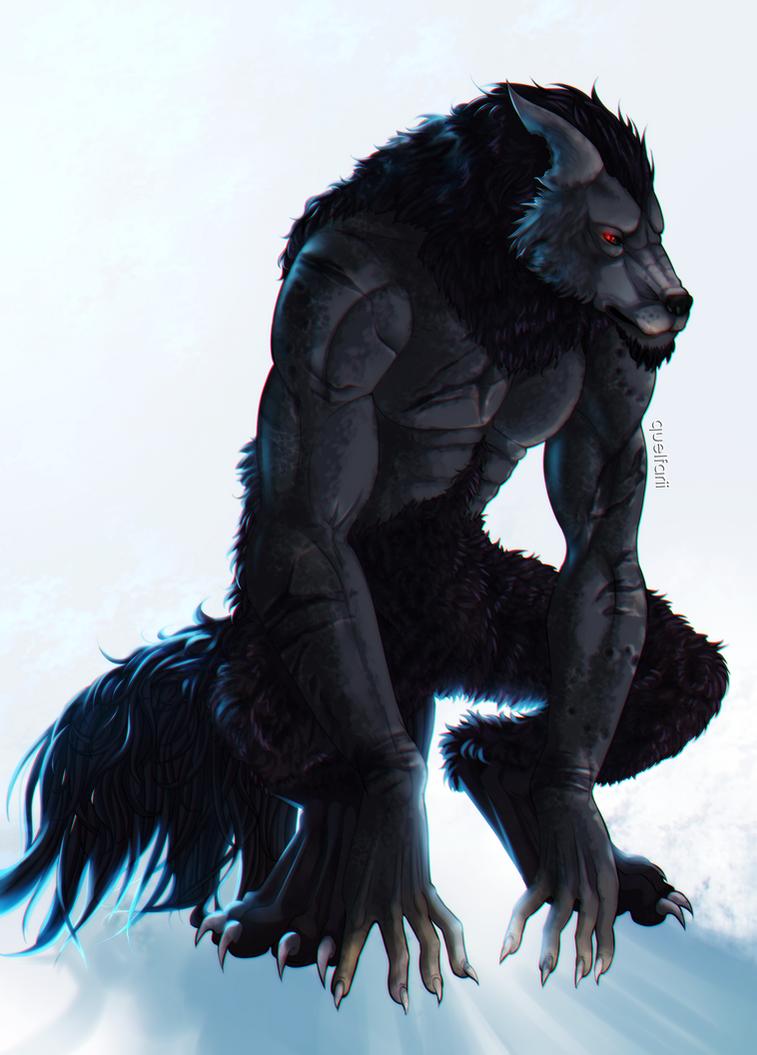 Werewolf of mine by Quelfarii