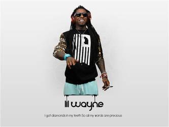 Lil Wayne's background by B2rhom