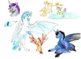 Bat Ponies by Dawn22Eagle