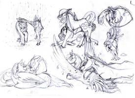 AppleDash sketches by Dawn22Eagle
