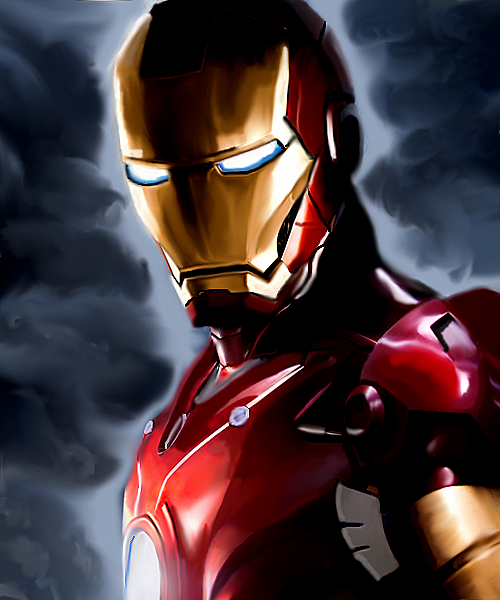 Iron Man painting by MelMelArt