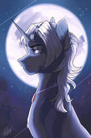The Moon by Orfartina