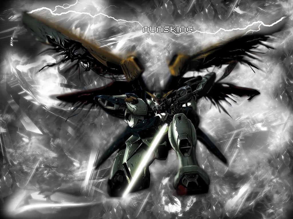 gundam wing by munsking Reanimate The Inner Gundam Inside You: 25+ Formidable Gundam Wallpaper Designs