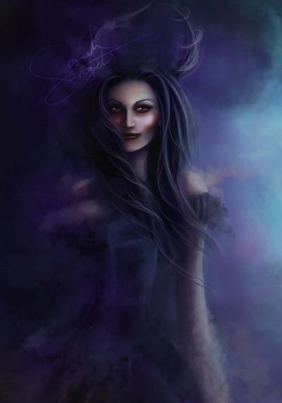 Lady In Black by Sangelus