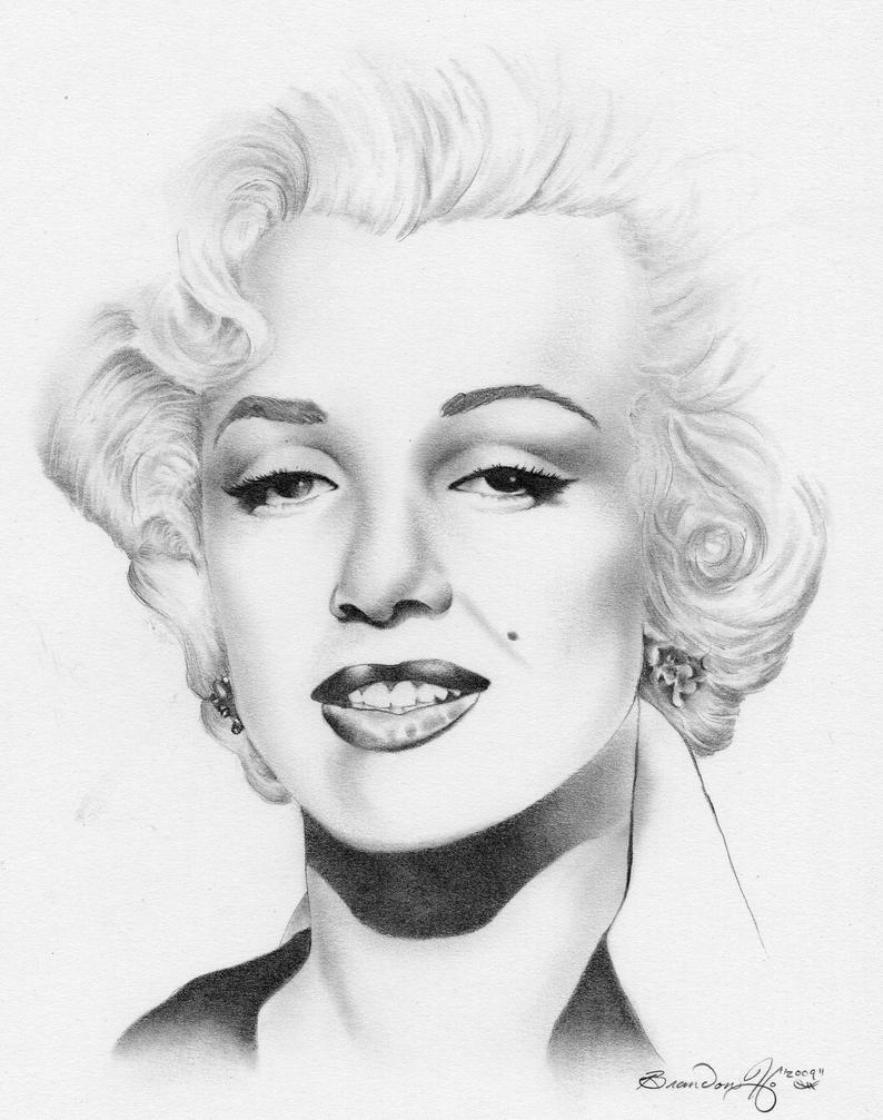 Marilyn Monroe 3 By 7brandon3 On Deviantart Marilyn Coloring Pages
