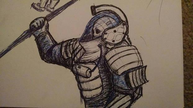 Ludens ballpoint sketch