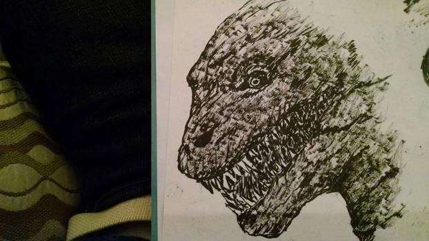 Shin Godzilla brush pen experiment