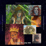 Portrait Commission Sale by manyfacesart