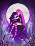 Marceline X Bubblegum by GlitterGlitched