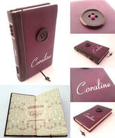 Coraline - Leather bound book by Vanyanie