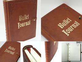Bullet Journal - vintage leather, 3 bookmarks by Vanyanie