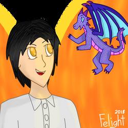 Apollo and Indigo (the baby dragon) by ApolloTulpa
