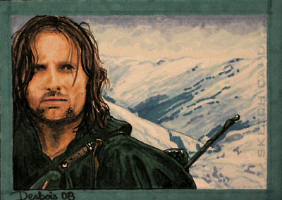 Aragorn at mountain's top by DavidDeb