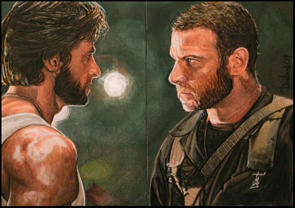 Wolverine vs Sabretooth by DavidDeb
