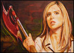 Buffy with Scythe
