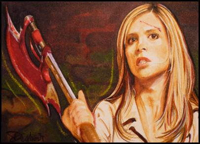 Buffy with Scythe by DavidDeb