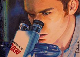 Dexter at Microscope by DavidDeb