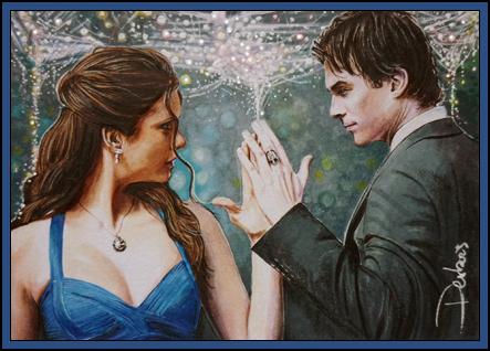 Damon and Elena by DavidDeb