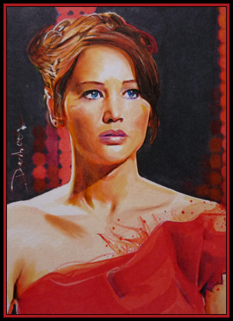 The Girl On Fire by DavidDeb